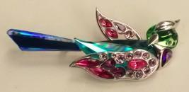 Vintage Swarovski Crystal Bird Brooch #276839 Parrot Signed - $150.00