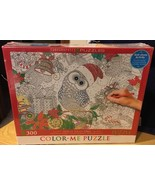 Holly Jolly Owl - 300 Piece Color-Me Jigsaw Puzzle - Eurographics - $12.19
