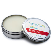Natural Hand and Foot Balm for Athletes With Sandalwood and Sweet Almond... - $12.95