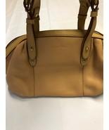 Calvin Klein Camel Pebble Leather Double Handle Satchel Handbag NWOT - $94.84