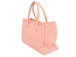 CHANEL Executive Tote Line Calf Leather Pink Bag A15206 Italy Authentic ... - $1,996.60