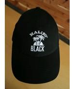 Men's MALIBU RUM BLACK Flexback Cap Embroidered Hat Booze Beach Tropical... - $17.41
