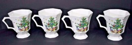 Nikko Christmastime Footed Coffee Mugs Porcelain Classic Collection Set ... - $19.99