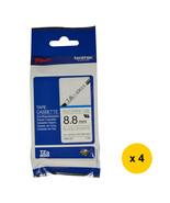 Brother HSe-221 8.8mm Heat Shrink Tube Tape Cassette (Pack of 4)-Black o... - $129.99