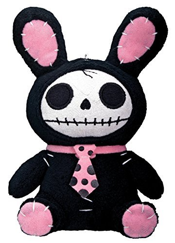 Primary image for Bunny Furry Bones Plush Stuffed Animal Doll, Black and Pink Collectible