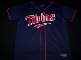 Minnesota Twins Majestic #7 Mauer MLB Baseball Jersey Blue Shirt size S - $59.99