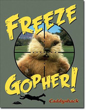 Caddyshack Freeze Gopher Golfer Golfing Hollywood Movie Metal Sign - $19.95