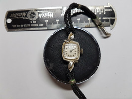 Longines Vintage 14KT White Gold Ladies Watch For Restoration Stem Coa Or Parts - $174.15