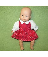 """12"""" HK CITY TOYS BABY CRYING DOLL VINYL HEAD HANDS FEET SOFT BODY RED DR... - $8.32"""