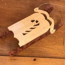 Estate Handmade by Don Musty Bear Valley Woodcrafts Wood Sled with Candy... - $8.59