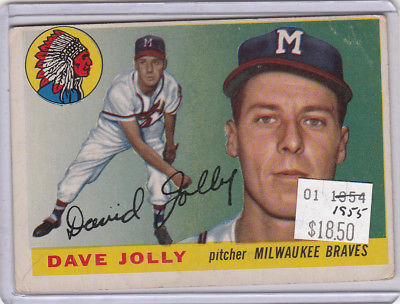 1955 Topps 35 Dave Jolly Not Graded