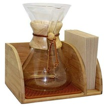 Blue Horse Caddy for Chemex Coffee Maker with Matching Brown Mat - $33.00