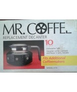 NIB Mr. Coffee 10 cup 50 oz Glass Replacement Decanter Model D7A Univers... - $9.77