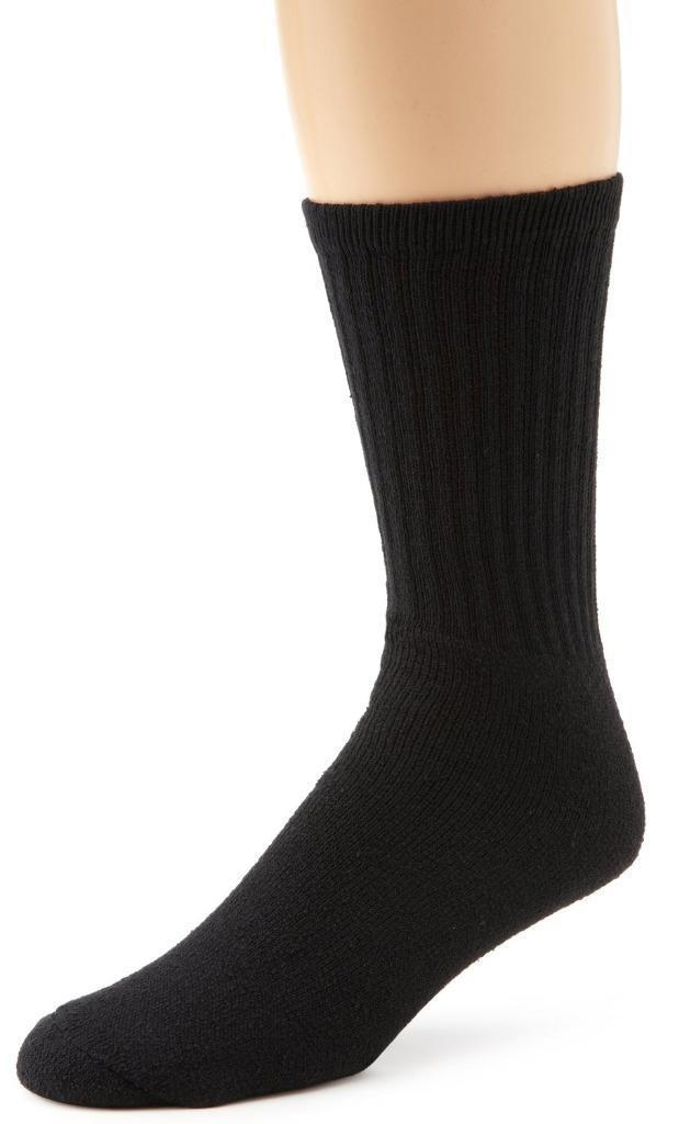 NEW MEN'S MASTER 4 PACK CLASSIC ATHLETIC RIBBED ANKLE CREW SOCKS BLACK 86940