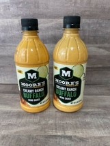 2 bottle Moore's Mild CREAMY RANCH BUFFALO Wing Sauce 16oz Exp. 1/31/21 - $19.35