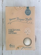 Yazer Dryer Balls, 6-Pack 100% Organic Handmade New Zealand Eco-friendly... - $17.81