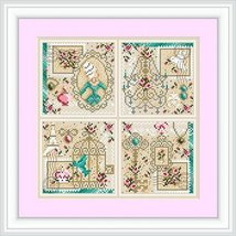 Shabby Chic Sampler cross stitch chart Shannon Christine Designs  - $12.60