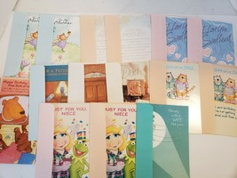 Lot Of 15 Vintage Assorted Gibson Birthday Cards - $10.88