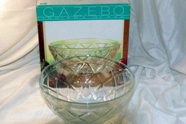 "Indiana Glass Gazebo Salad Serving Bowl 10 1/2"" In Box - $11.47"