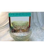 "Indiana Glass Gazebo Salad Serving Bowl 10 1/2"" In Box - $10.70"