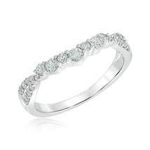 0.45 CT Diamond Wedding Anniversary Band Sterling Silver 18K White Gold ... - $64.59
