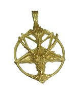 24kt gold plated over real genuine sterling silver .925 Satan Goat Bapho... - $98.88