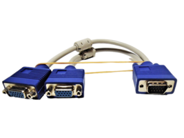 VGA Splitter Cable (VGA-Y) for Screen Duplication, 1 Foot image 1