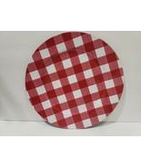 (6) Farmhouse Checkered Check Buffalo Plaid Red White Chargers Plates Decor - $57.99