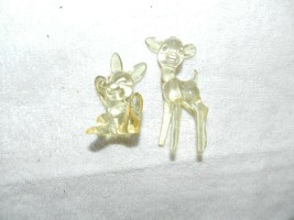 Vtg Lucite Bambi & Thumper Clear Plastic Walt Disney Productions Figurines - $29.69