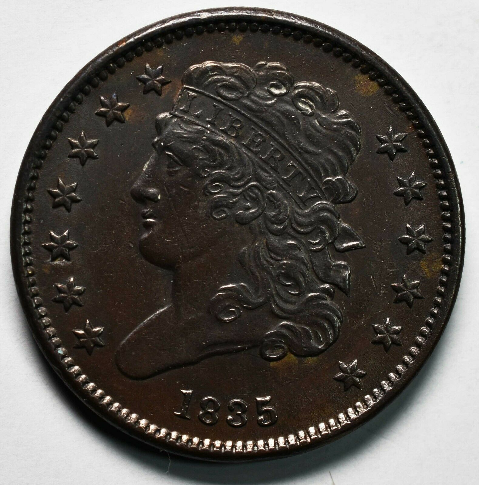 1835 CLASSIC HEAD HALF CENT Coin Lot A632