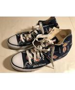 Dickies Motif Logo Men's High Top Canvas Upper Sneakers Shoes Navy Blue 9.5 - $59.39