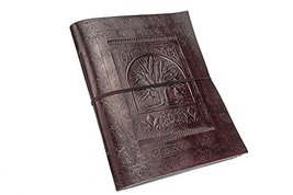 TUZECH Real Vintage Leather Diary Leather Journal Handmade-Paper Photo A... - $18.62