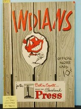 1951 Cleveland Indians Baseball Program v Detroit Tigers UNS. C7007 - $47.52