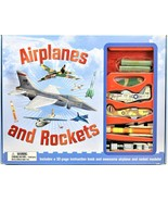 Airplanes And Rockets 32 Page Instruction Book And Rocket Models & Launcher - $14.84