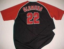 Houston Astros Roger Clemens #22 MLB NL True Fan Black Brick Red Jersey XL 46-48 - $49.49