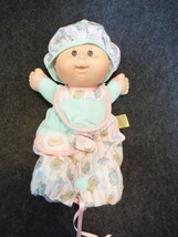 "Cabbage Patch Love N Care Baby 13"" Doll Hasbro Brown Eyes Print Outfit 2009 - $13.49"