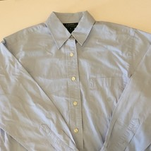 Ralph Lauren Womens Button Down Polo Size 8 Sky Baby Blue Green Tag Casual - $25.74