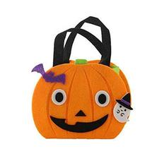 PANDA SUPERSTORE Portable Halloween Candy Bags Pumpkin Bags Small Smiley Face Pa