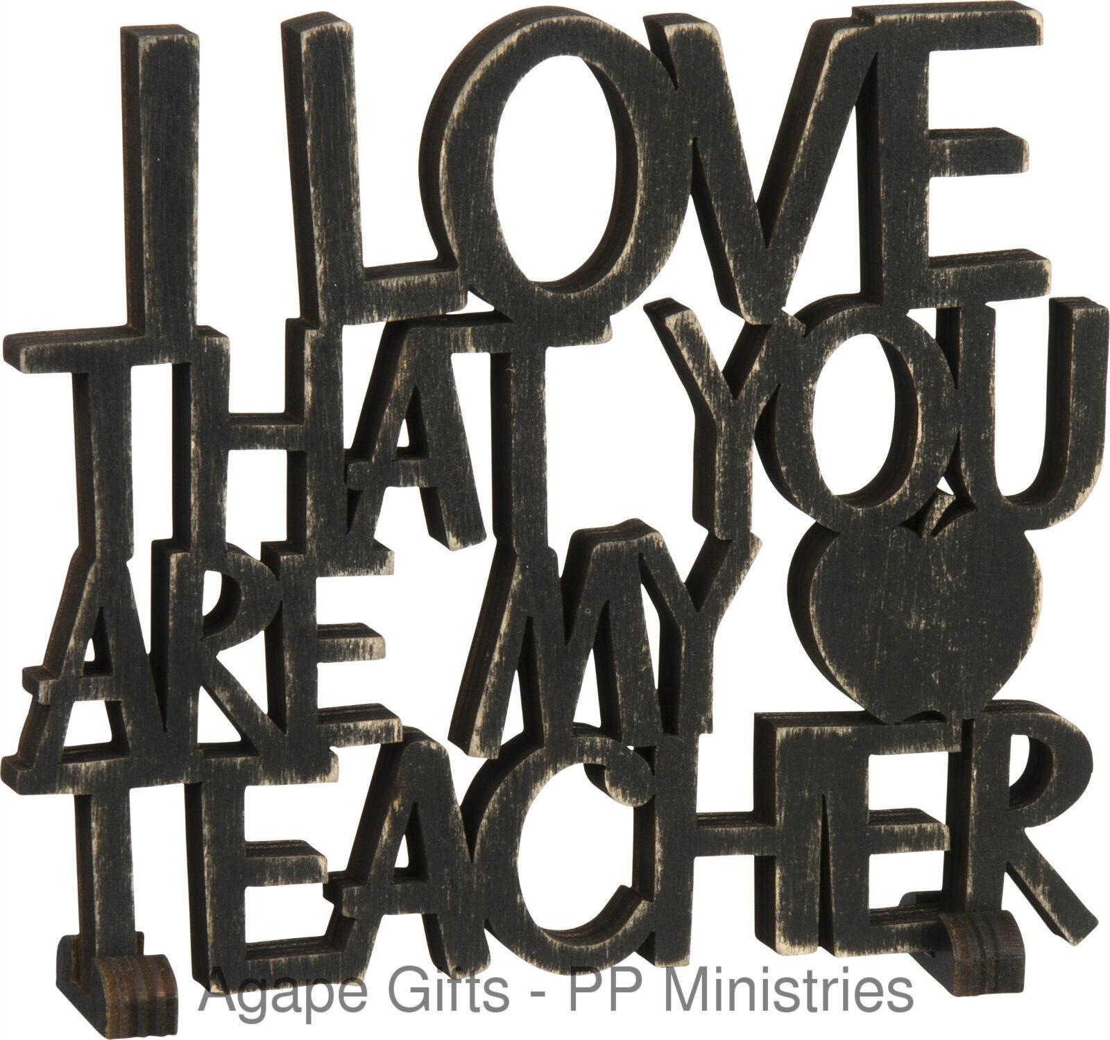 Primitives by Kathy Word Art, My Teacher, Black - $10.84