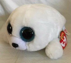 "TY BEANIE BOOS ICY 6"" SEAL MINT with MINT TAGS Plush Stuffed White Spark... - $11.87"