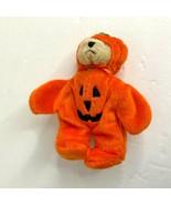 Ganz 1999 Pumpkin Head Bear Plush Stuffed Animal Toy 6 in - $12.19