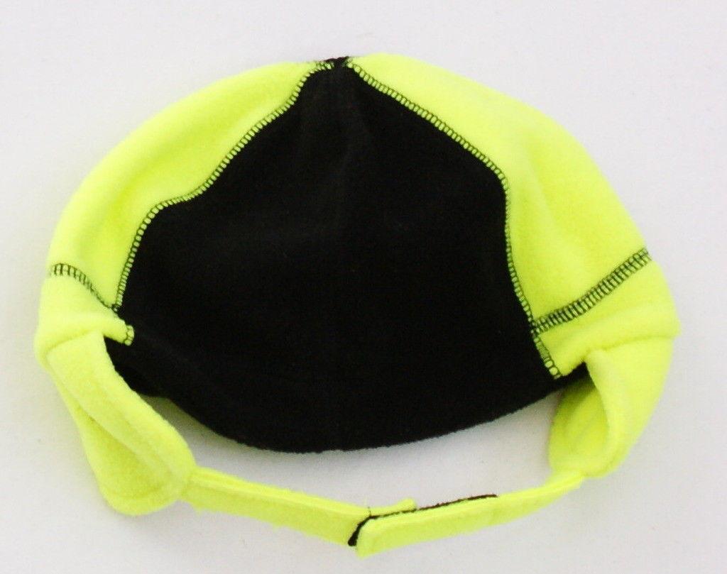 Nike Black & Volt Fleece Winter Hat & Mittens Infant 12 - 24 Months NWT