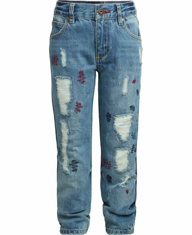 Tommy Hilfiger Nwt Big Boys Rebel Jeans Skinny Fit Taglia 8 Affliggere KD853