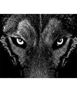 black wolf eyes animal printable art digital download animal graphics im... - $2.40