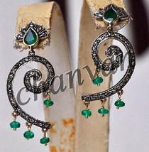 Vintage Insp. 1.48CT Rose Cut Diamond Sterling Silver Women Fine Earring... - $6.487,34 MXN