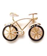Brooch Bike Vintage Bicycle Gold Black Sports Unisex Men Male Pin Lovely... - $8.99