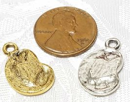 MADONNA AND CHILD FINE PEWTER PENDANT CHARM image 3