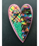 Designs by Lucinda Rainbow Striped Blotted & Green Sparkly Pink Patchwor... - $19.49