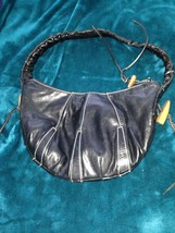 beautiful condition Kenneth Cole black handbag with zippered closure & inside zi - $99.99