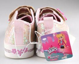 Bébé Fille ' S Sport Par Skechers Cristal Or Stars Madelyne Clair Dessus Baskets image 4